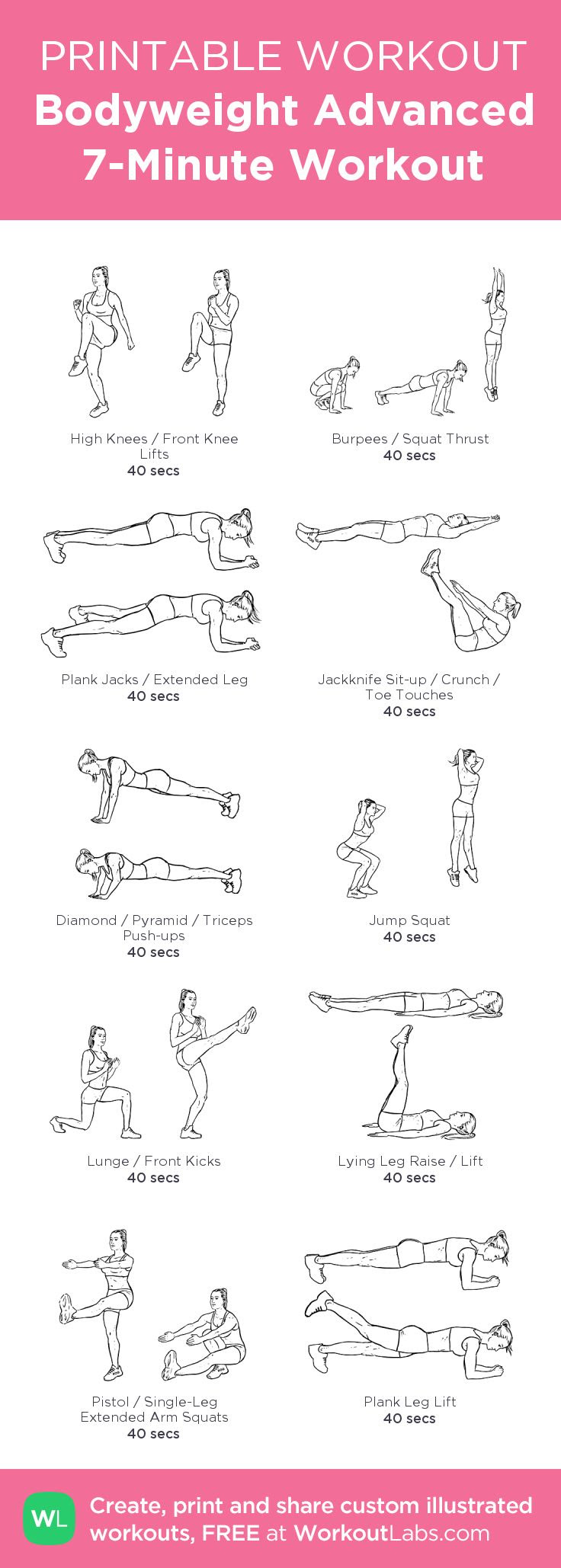 1000+ ideas about 7 Minute Workout on Pinterest | Exercise, 7 ...