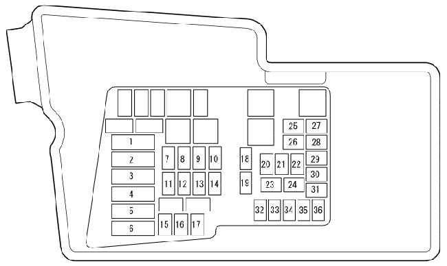 09 12 Mazda Cx 7 Fuse Box Diagram