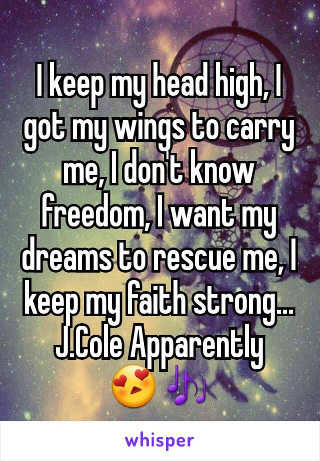I Keep My Head High I Got My Wings To Carry Me I Dont Know
