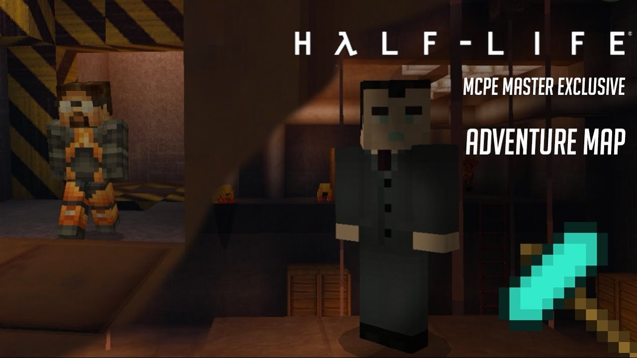 Half Life Minecraft Pe Adventure Map Exclusive Youtube