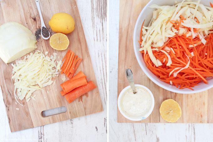 Krautsalat, gesund. frisch, grillen.