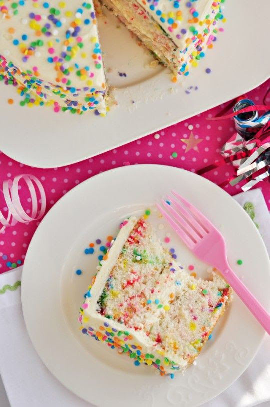 homemade funfetti cake...perfection.