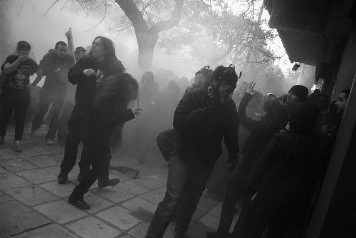 Kettled and tear gassed - Thessaloniki Greece