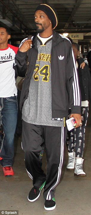 A-list Lakers fans: Anthony Kiedis and Snoop Lion also showed their support for the basketball team