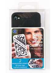 Cross Stitch Phone Case Kit Black for iPhone(R)