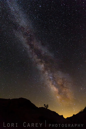 Milky Way in the Mojave Desert near Red Rock Canyon State Park