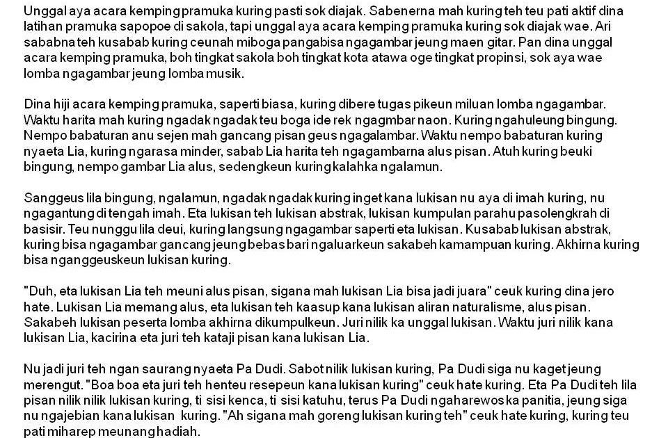 Contoh Cerita Wayang Dalam Bahasa Sunda Cerpen