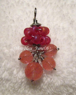 Wire wrapped Fruity Pendant