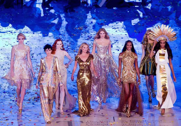 Supermodels Strut Their Stuff at the 2012 Olympics