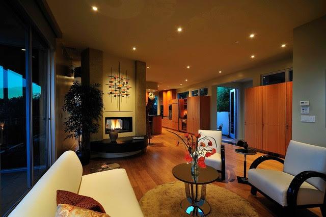 Nichols Canyon Renovation, Hollywood Hills - midcentury - living ...