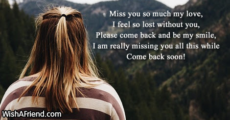 Miss You So Much My Love Missing You Message For Boyfriend