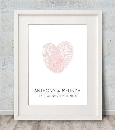 Fingerprint Heart Wedding Guest Book   Wedding Guest Book