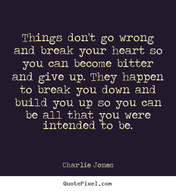 Things Dont Go Wrong And Break Your Heart So You Charlie Jones