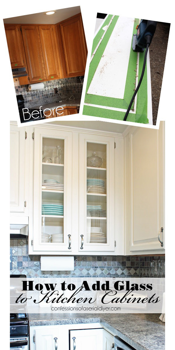 How to Add Glass to Cabinet Doors | Confessions of a ...