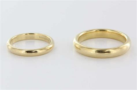 Estate Designer Tiffany & Co. 18 Karat Yellow Gold Wedding