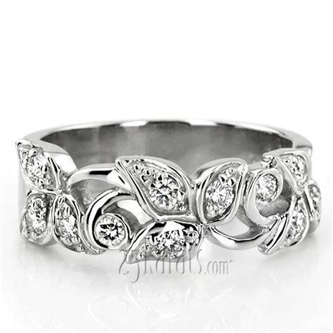 Elegant Leaf Design Diamond Fancy Ring (0.33 ct.tw)