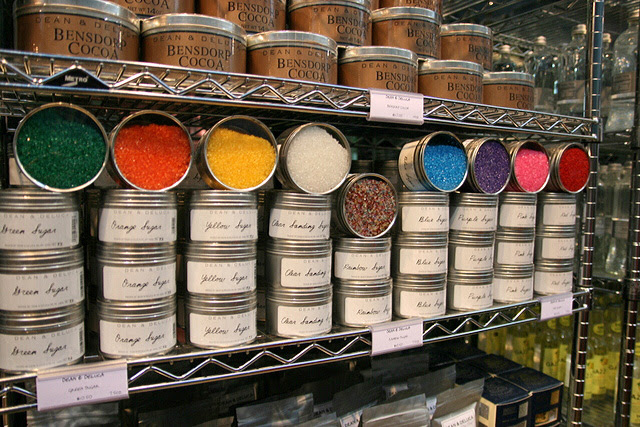 Coloured sugar, including rainbow sugar!