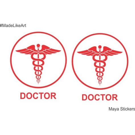 doctor logo  snake sticker decal  cars  wall