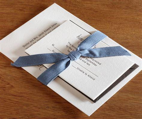 Belly Bands for Wedding Invitation Sets   letterpress