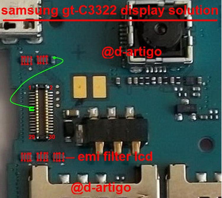 Samsung C3322 Display Light Solution LCD Jumper Problem Ways