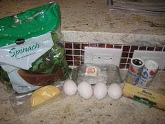 ingredients for huevos a la florentina