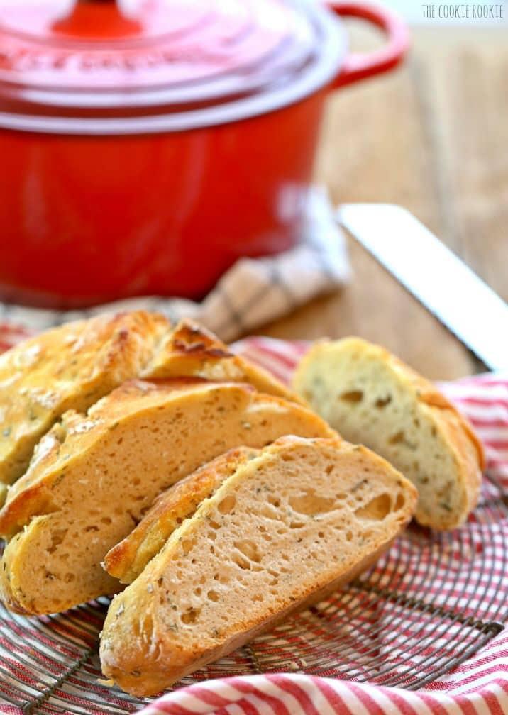 Rosemary Sea Salt Dutch Oven Bread