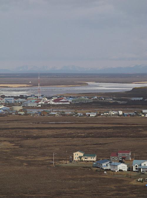 arriving in Bethel, Alaska, by air