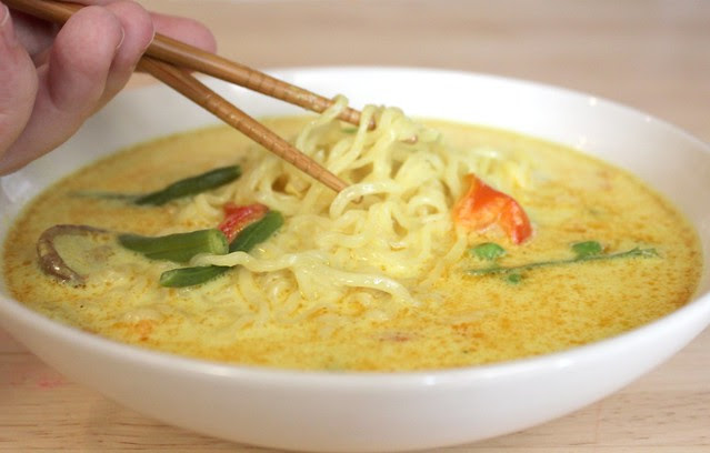 Ten Minute Coconut Curry Chicken Noodle Soup