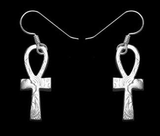 Ankh Earrings Ancient Egyptian Fashion Sterling Silver Jewelry