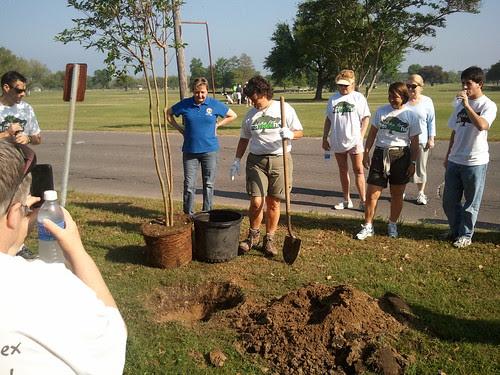 Monique Pilie plants tree # 10,000