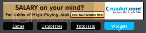 Adsense Ad with navigation menu