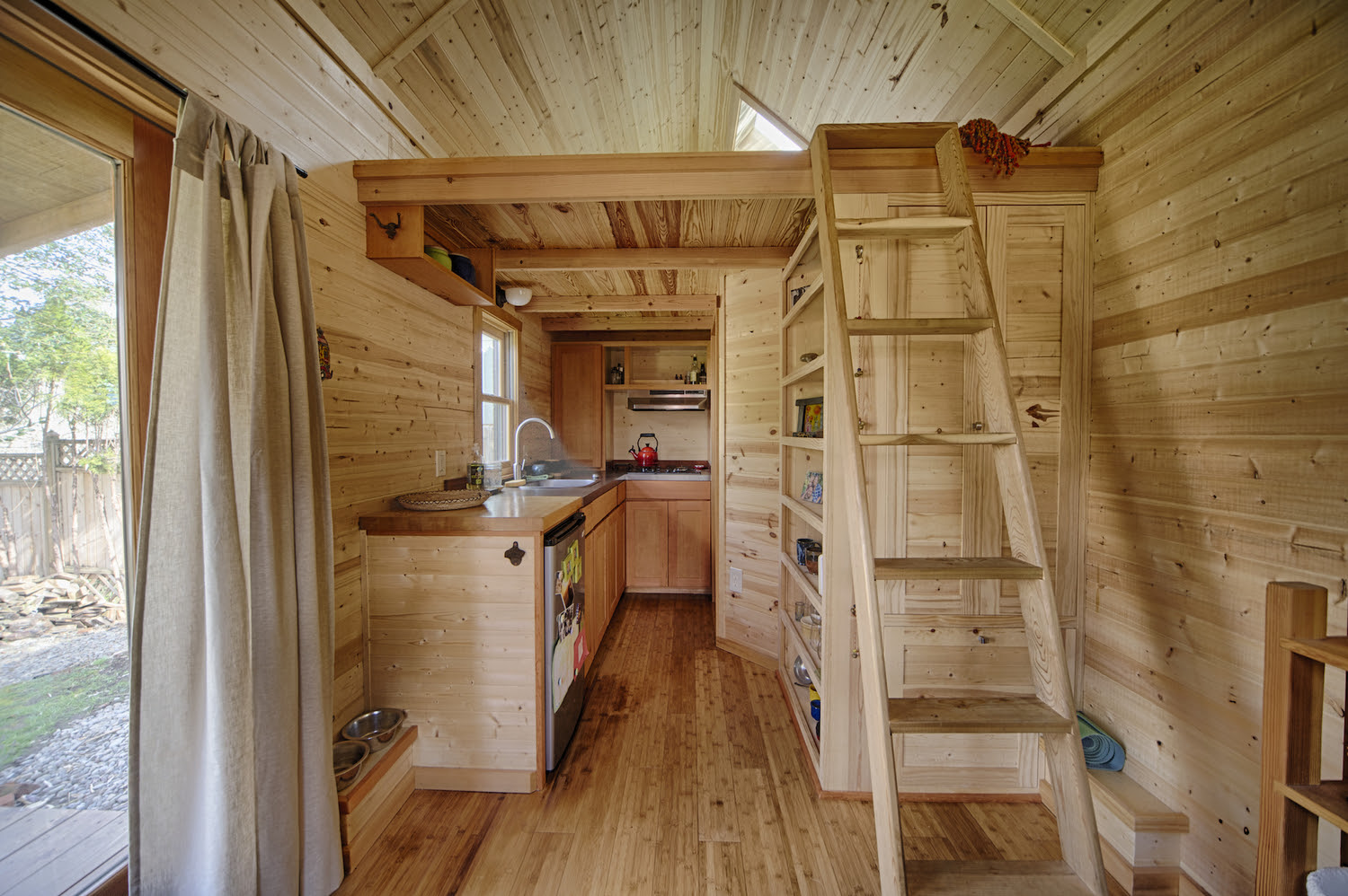 Inside Gina's Tiny House -Photo by Christopher Tack