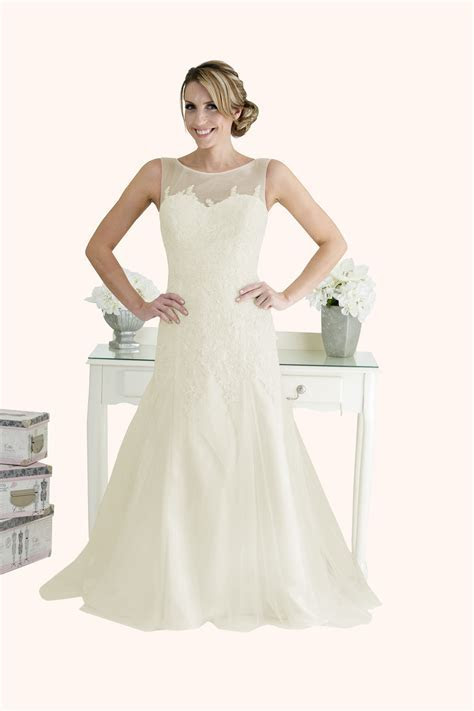 Millie   Lace and Tulle Fit and Flare Wedding Dress