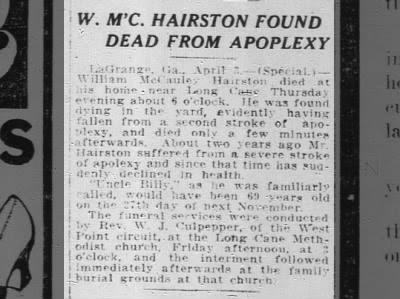 William M. Hairston Obit