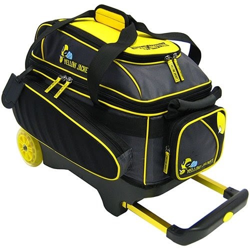 Cheap Yellow Jacket Double Roller Bowling Bag On Sale