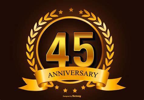 Beautiful 45th Anniversary Illustration   Download Free
