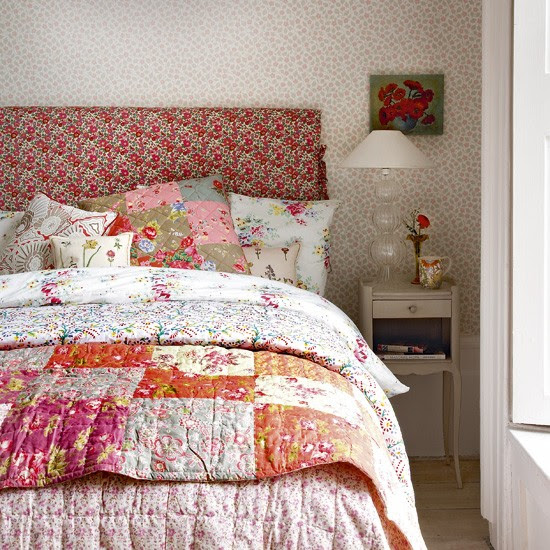 Floral vintage-look bedroom   Bedroom designs   Image   Housetohome.co.uk