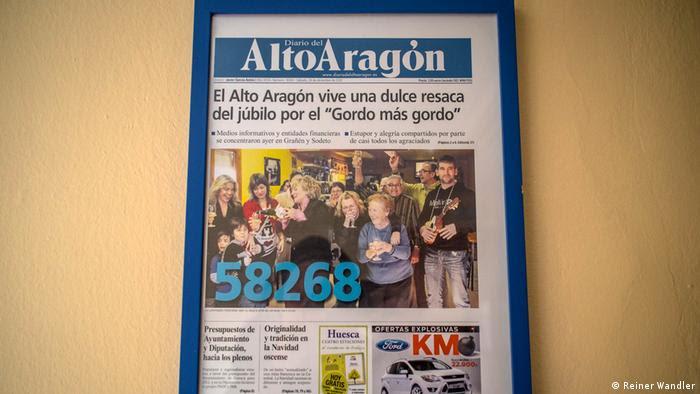Spanien Weihnachtslotterie El Gordo Regionalzeitung (Reiner Wandler)
