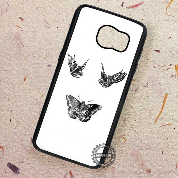 Birds And Butterfly Tattoos Harry Styles Samsung Galaxy S7 S6 S5