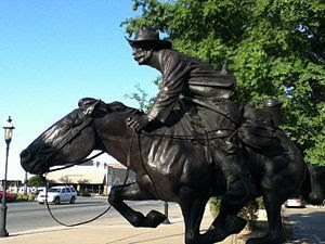 English: Boomer statue by Harold T. Holden in ...