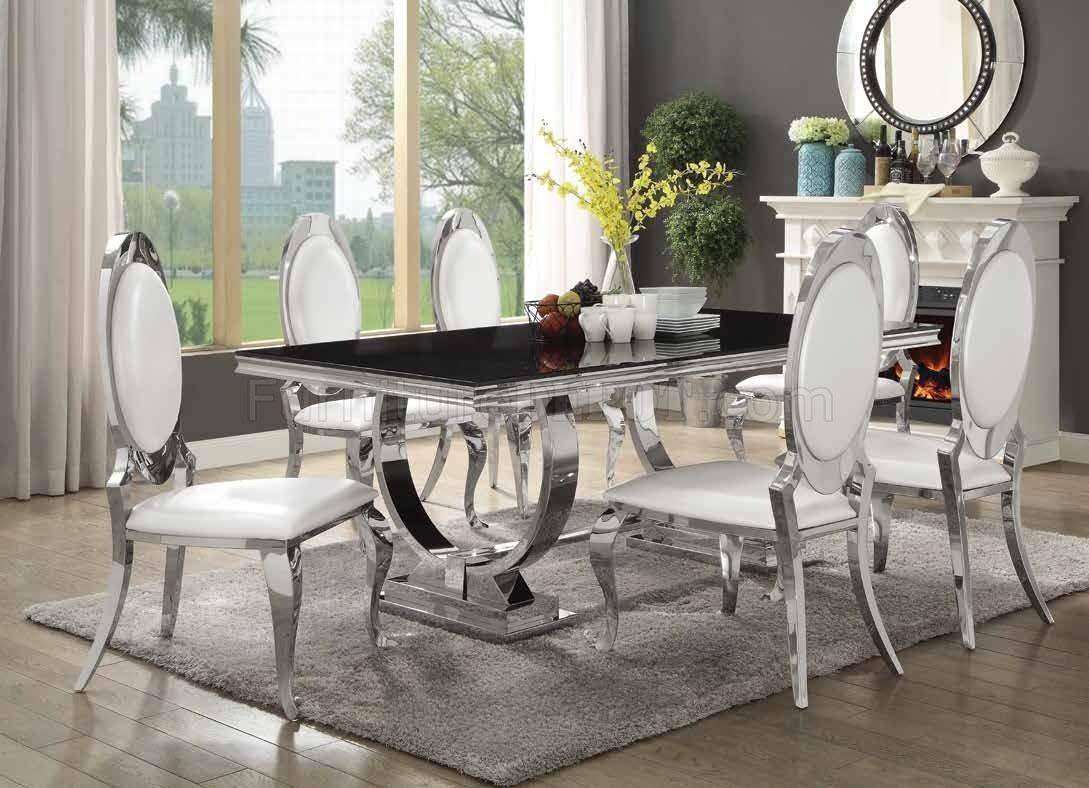 Antoine Dining Table 107871 Coaster w/Chrome Base & Options