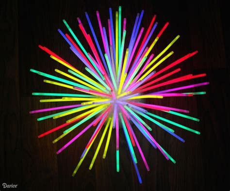 DIY Glow Stick Centerpiece: Fun Idea   Darice   Lindsay