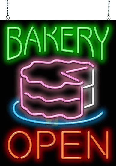 Bakery Open with Cake Neon Sign   FG 50 22   Jantec Neon