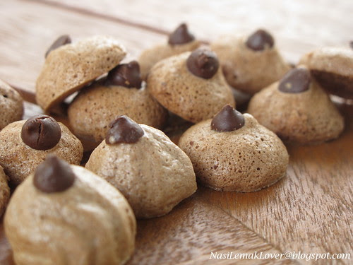 Ice Cream cookies ( Cocoa and Coffee Meringues)