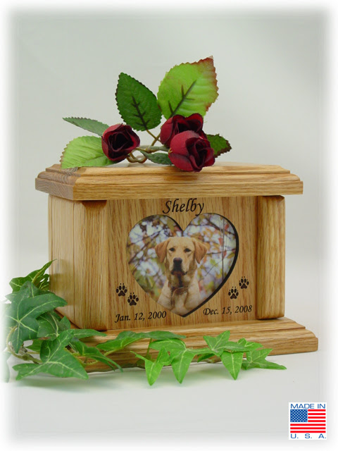 Wood Photo Pet Urns