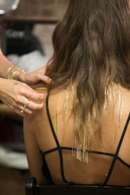 Hair jewelry at Fallon's 2014 Spring Presentation at New York Fashion Week