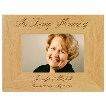 In Loving Memory Picture Frame Personalized Engraved Memorial