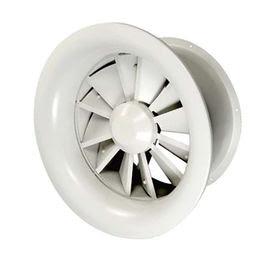 Adjustable HVAC round exhaust diffuser