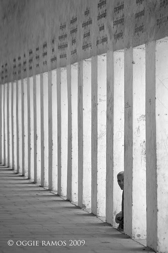 shwezigon paya walkway silhouette