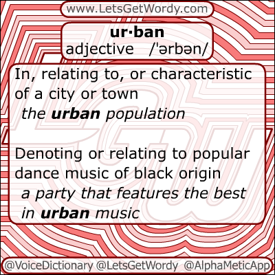 Urban 11/27/2012 GFX Definition of the Day
